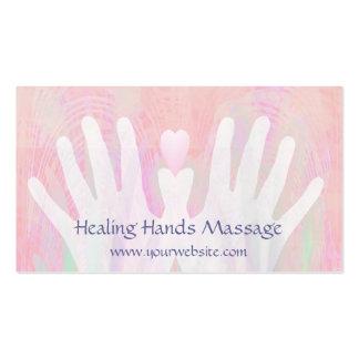 Healing Hands Light Pink Business Cards
