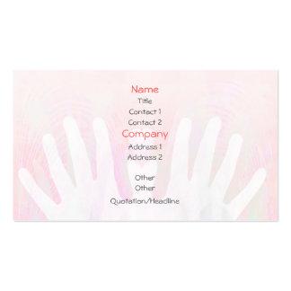 Healing Hands Light Pink Business Card Template
