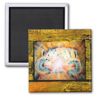 Healing Hands Square Magnet