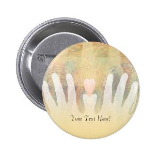 Healing Hands Massage 2 Inch Round Button