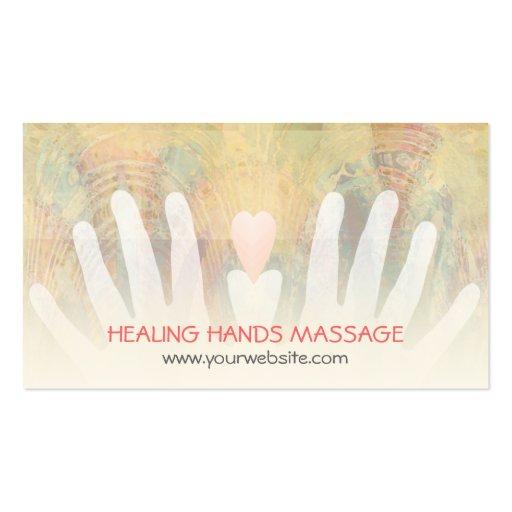 Healing Hands Massage Business Card Templates