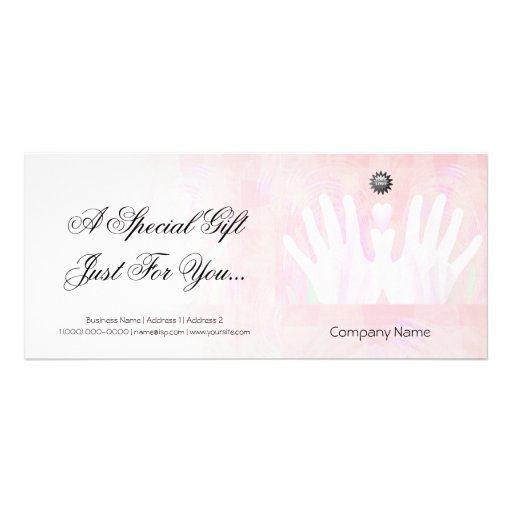 Healing hands massage gift certificate zazzle for Zazzle gift certificate