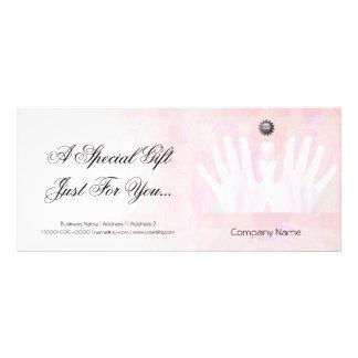 Healing Hands Massage Gift Certificate Custom Rack Card