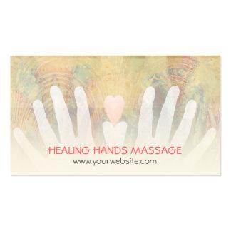 Healing Hands Massage Pack Of Standard Business Cards