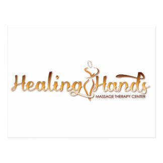 Healing Hands Massage Products Postcard