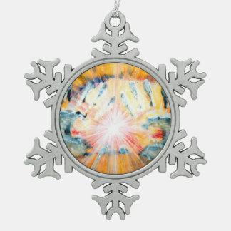 Healing Hands Pewter Snowflake Ornament
