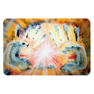 Healing Hands Rectangular Photo Magnet