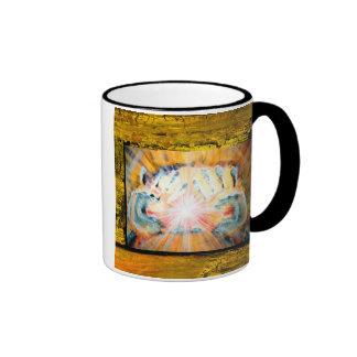 Healing Hands Ringer Coffee Mug