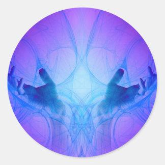 Healing Hands Round Sticker