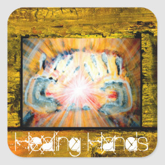 Healing Hands Square Stickers
