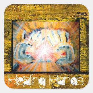 Healing Hands Square Sticker