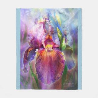 Healing Iris Goddess Art Blanket