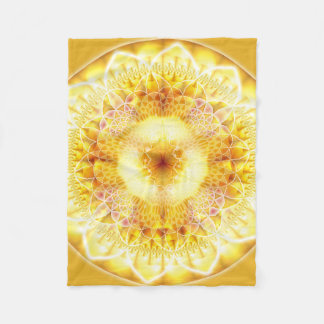 Healing Mandala 1 Fleece Blanket