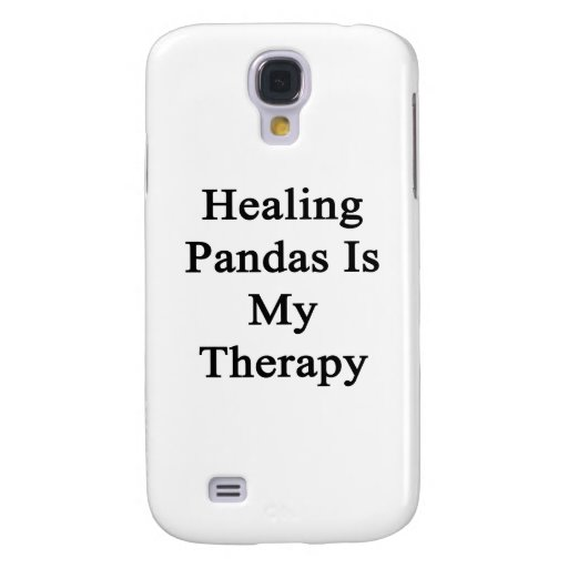 Healing Pandas Is My Therapy Samsung Galaxy S4 Cases
