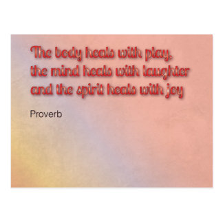 Healing Proverb Postcard