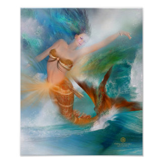 Healing Sacral Goddess Fine Art Poster/Print Poster