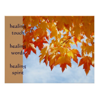 healing touch art healing words prints Nurses Poster
