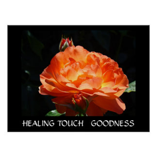 HEALING TOUCH GIFTS Rose Art Print GOODNESS