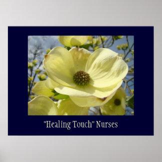 Healing Touch Nurses art print gifts Dogwoods
