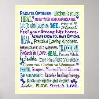 healing word art poster
