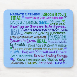 healing words mouse pad art