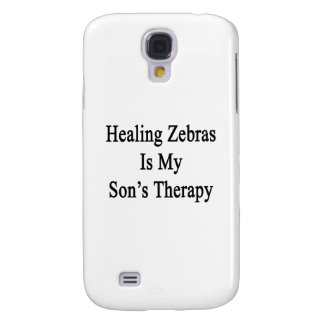 Healing Zebras Is My Son's Therapy Galaxy S4 Cover