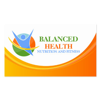 Health and Nutrition Coach Business Cards