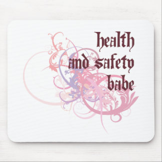 Health and Safety Babe Mouse Pad