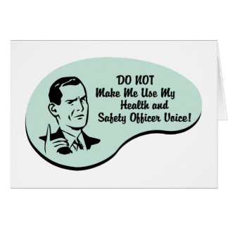 Health and Safety Officer Voice Card