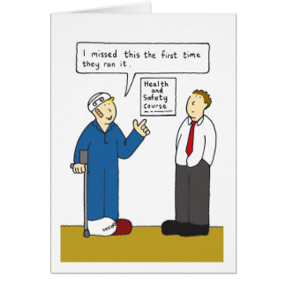 Health and safetycourse missed. card