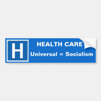 Health Care Bumper Sticker blue