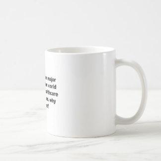 Health care, why can't we? coffee mug