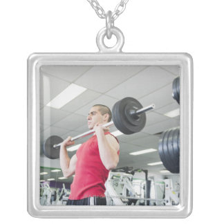 Health Club Silver Plated Necklace