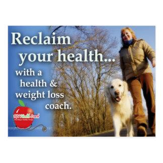 Health Coach Marketing Postcard