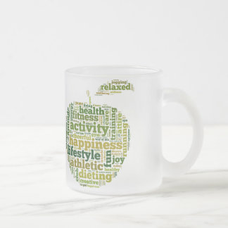 Health Fitness Activity Happyness Frosted Glass Coffee Mug