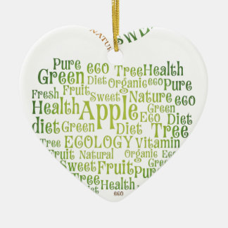 Health Green Eco Friendly Ceramic Heart Ornament