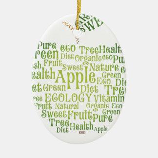 Health Green Eco Friendly Ceramic Oval Ornament