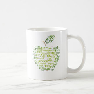 Health Green Eco Friendly Classic White Coffee Mug