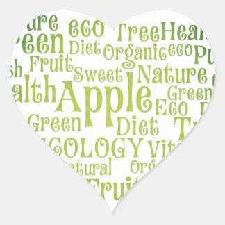 Health Green Eco Friendly Heart Sticker
