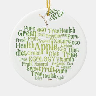 Health Green Eco Friendly Round Ceramic Ornament