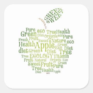 Health Green Eco Friendly Square Sticker