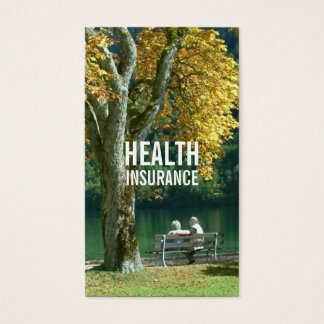 Health Insurance Senior Couple & Tree Business Card