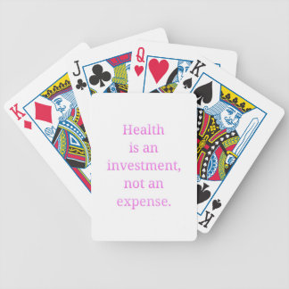 Health is an investment... bicycle playing cards