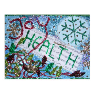 Health is Wealth Collage Postcard