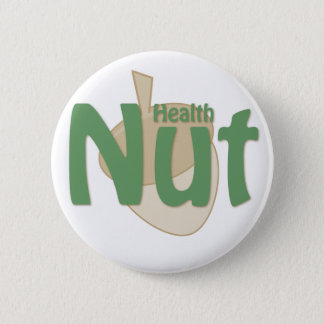 Health Nut 2 Inch Round Button