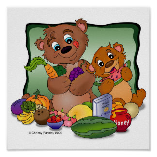 """Health Nut Bears"" Poster"