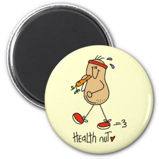 Health Nut T-shirts and Gifts 2 Inch Round Magnet