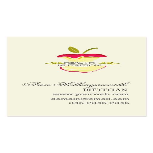 Health nutrition weight loss zazzle for Nutrition business cards