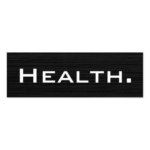 Health Professional Business Card-Skinny No. 2