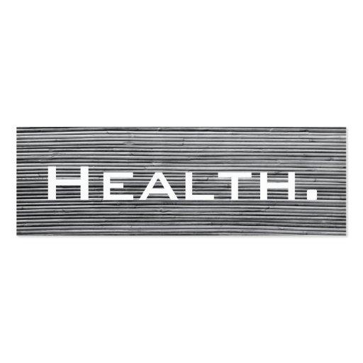 Health Professional Business Card-Skinny No.4